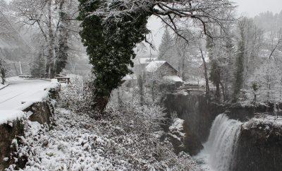 Winter wonderland in Slunj Rastoke